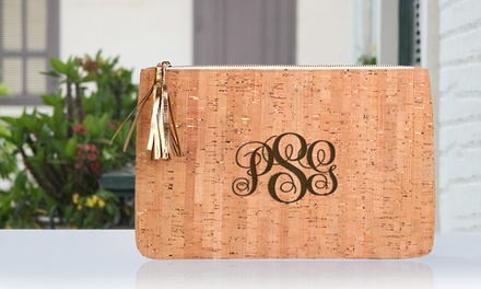 Personalized Eco-Friendly Cork Clutch with Engraved Initials or Name from MonogramHub (Up to 80% Off)