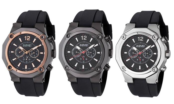 Men's Silicone Sports Watches: August Steiner Men's Silicone Sports Watches. Multiple Styles Available. Free Returns.