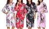 1x oder 2x Kimono-Schlafmantel