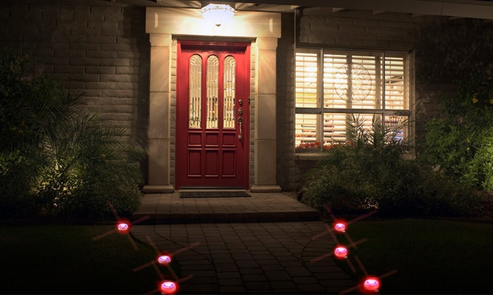 Outdoor Solar Marker Lights - Red (20-Pack)
