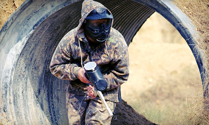 PBC Paintball Park - Greenville: $22 for All-Day Paintball Package with Equipment Rental, Air, and 500 Paintballs at PBC Paintball Park ($44 Value)
