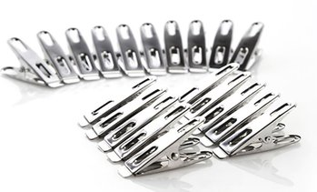 80pc Stainless Steel Metal Pegs
