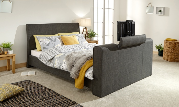 Tv In Bed : Ideas for hiding a tv in a bedroom contemporist