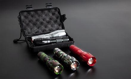 MilitaryStyle Flashlight with Zoom and Optional Accessory Box