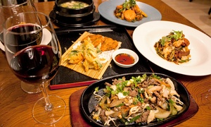 Chef Kim Korean Restaurant: Three-Course Korean Meal with Wine for Two ($35) or Four People ($65) at Chef Kim Korean Restaurant (Up to $164 Value)