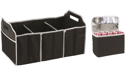 Collapsible Car Trunk Organiser with Cooler Bag: One ($15) or Two ($25)