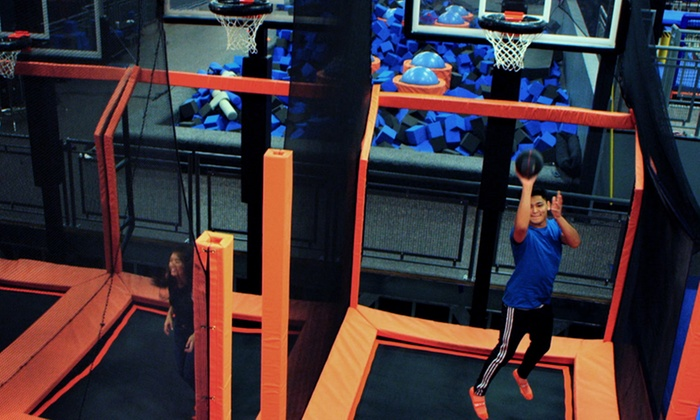 sky zone in saint catharines on groupon. Black Bedroom Furniture Sets. Home Design Ideas