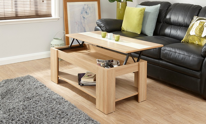 Gloss Lift-Top Coffee Table in Choice of Colour for £59.99 (60% Off) from £59.99