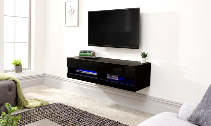 Galicia Wall TV Unit with LED Lights