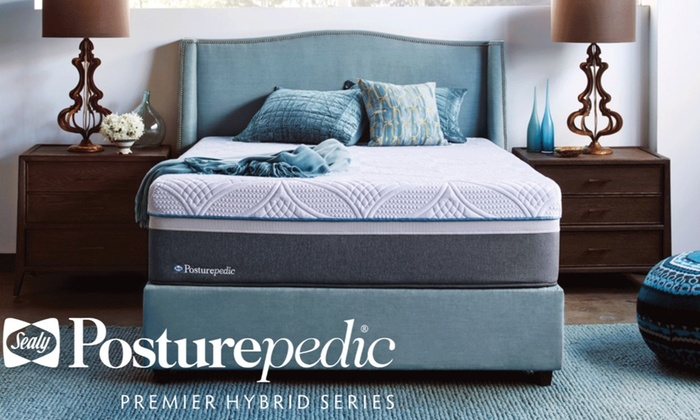 Sealy Posturepedic Hybrid Silver Plush Mattress Or Set With Up To 300 Digital Visa Gift Card Free Delivery