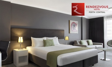 Perth, CBD: One or TwoNight Getaway for Two People with Breakfast, Wine, and WiFi at Rendezvous Hotel Perth Central