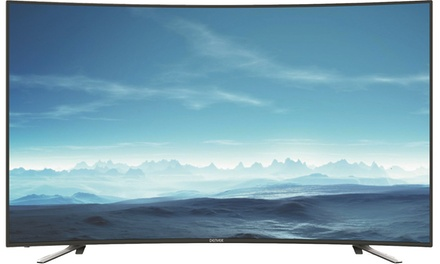 Televisor LED Denver UHD 4K de 55'' curvo con triple sintonizador