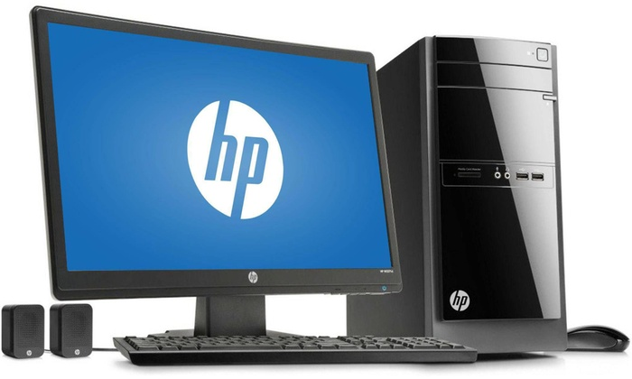 Hp Desktop Computer With Amd Quad Core Processor And 21 5 Monitor