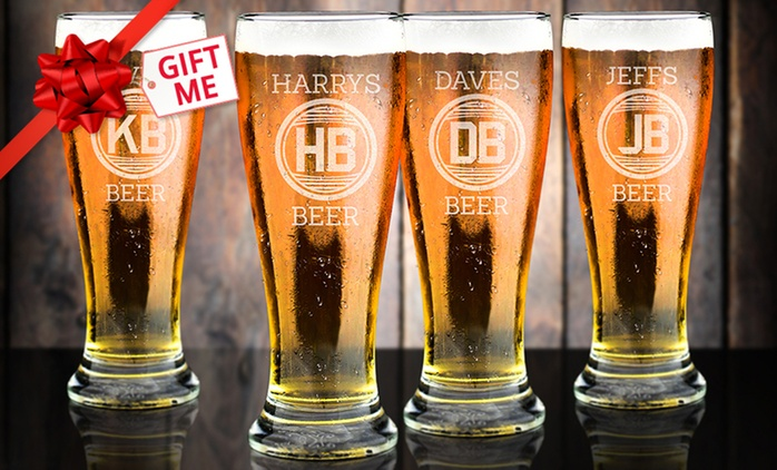 $11.99 for a Personalised Middy Beer Glass, or $14.99 for a Schooner Beer Glass (Don't Pay up to $29.99)