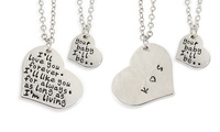 Love You Forever Stamped Necklace Set with Optional Monogram