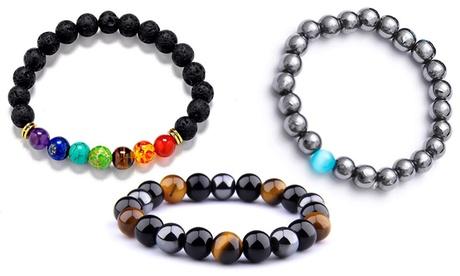 Jusqu'à 3 bracelets pierres naturelles