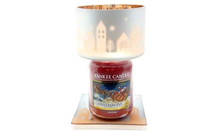 Yankee Candle Winter Village Shade and Tray or Large Jar Lucky Dip
