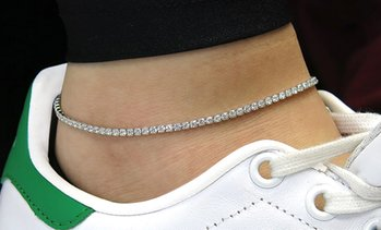 Anklet Made with Swarovski Elements by Elements Of Love