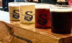 Up to 31% Off Beer Tasting at Savannah River Brewing at Savannah River Brewing Company, plus 6.0% Cash Back from Ebates.