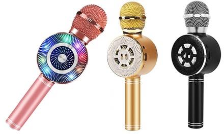Micrófono con altavoz para karaoke 3 en 1 compatibles con teléfonos inteligentes por Bluetooth