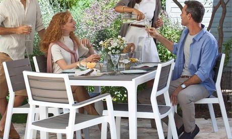 Set da giardino Harmony con 4 sedie o 4 poltrone
