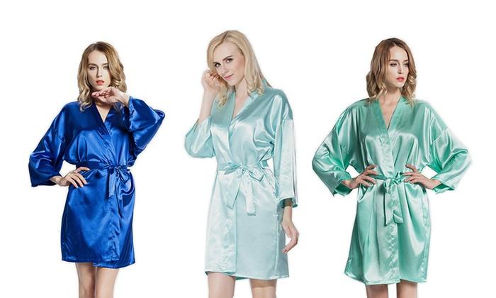 Pretty Bash Women's Luxuriously Soft Satin Robe