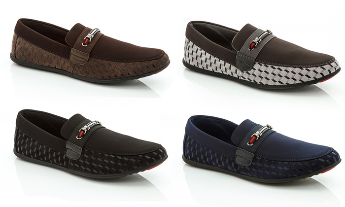 Franco Vanucci Men's Moccasin Slip-on with Buckle