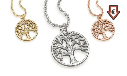 93365f165f582 Tree of Life Pendant Necklace with Crystals from Swarovski ...