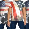 Galaxy by Harvic Men's American Flag Graphic T-Shirt