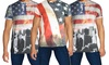 Men's American Flag Graphic T-Shirt: Galaxy by Harvic Men's American Flag Graphic T-Shirt