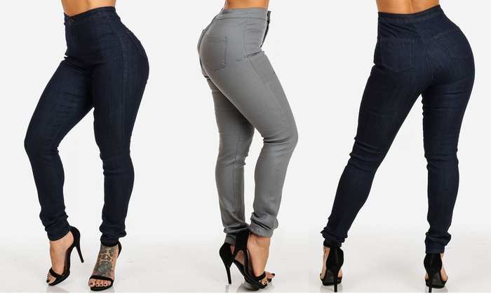 Juniors' High Waisted Skinny Jeans