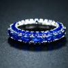 Peermont Lab-Created Sapphire Three-Row Ring