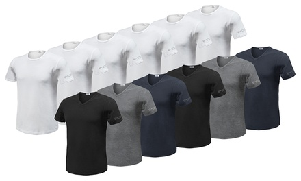 6 T-shirt Sergio Tacchini: Bianco / Scollo a V - 5-L