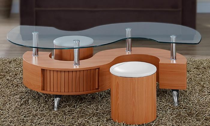 Tavolino da soggiorno con sgabelli groupon goods
