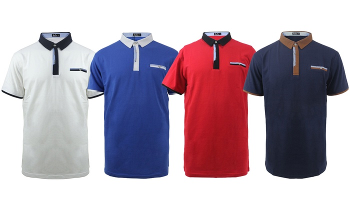 e2e9e81df LeeHanTon Men's Short-Sleeve Solid Slim-Fit Collar Polo T-Shirt ...