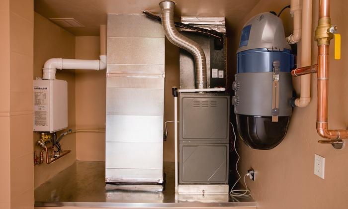 Dean's Professional Plumbing, Heating, Air, and Drains - Brooklyn Park - Maple Grove: $39 for Furnace Cleaning, Check from Dean's Professional Plumbing, Heating, Air, Drains ($180 Value)