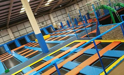 image for One-Hour Trampoline Access with Optional Grip Socks for Up to Four at Air Factory Trampoline Park (Up to 39% Off)