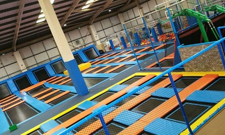 One-Hour Trampoline Access with Optional Grip Socks for Up to Four at Air Factory Trampoline Park (Up to 39% Off)