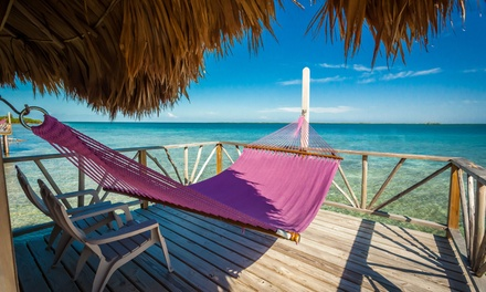 3- or 5-Night Stay for Two with Optional All- Inclusive Package at Thatch Caye Resort in Belize