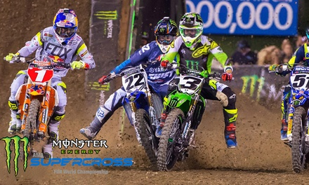 Monster Energy AMA Supercross on Saturday, January 12, at 6:30 p.m.