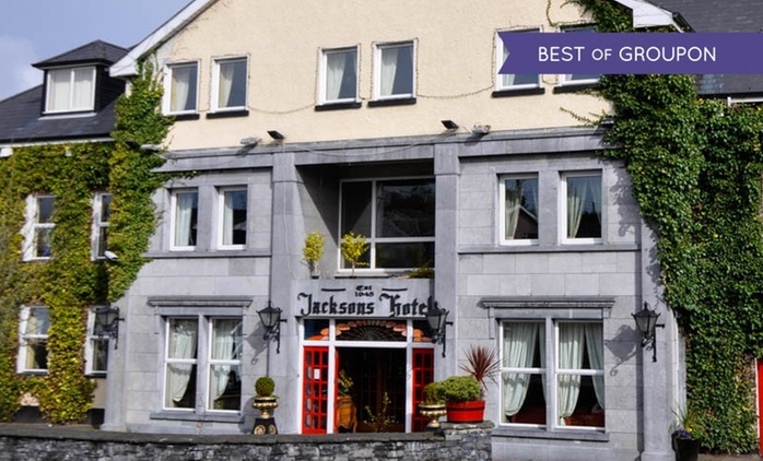 Co. Donegal: 1 or 2 Nights for Two with Breakfast, Cream Tea on Arrival & Dinner at 4* Jackson's Hotel & Leisure Centre