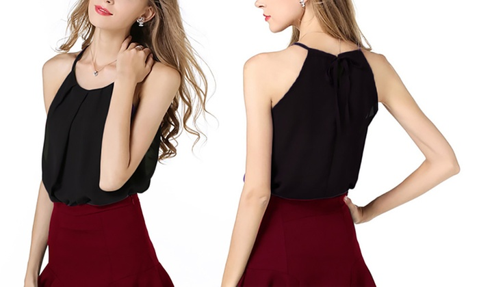 High-Neck Double-Layer Top
