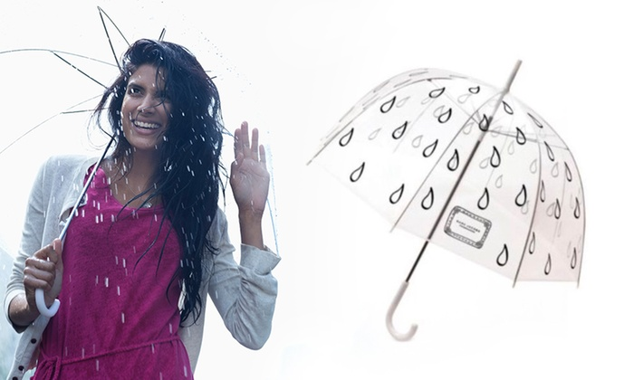 Sole Trading Co P/L: Marc Jacobs Printed Rain Drop Clear Dome-Shaped Umbrella: One ($24) or Two ($38)