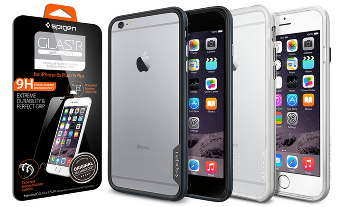 on sale c5a4a bf004 Spigen Neo Hybrid EX Case and Slim Screen Protector for iPhones ...