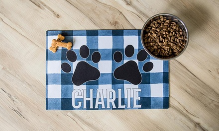 One, Two, or Three Personalized Pet Placemats from Qualtry (Up to 88% Off)