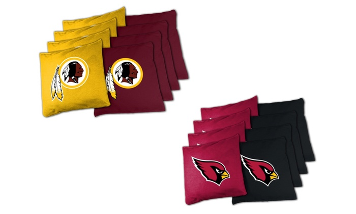 Remarkable Nfl Redskins Or Cardinals Xl Cornhole Bean Bag Sets 8 Piece Uwap Interior Chair Design Uwaporg