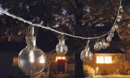 Glass Bubble Solar String Lights