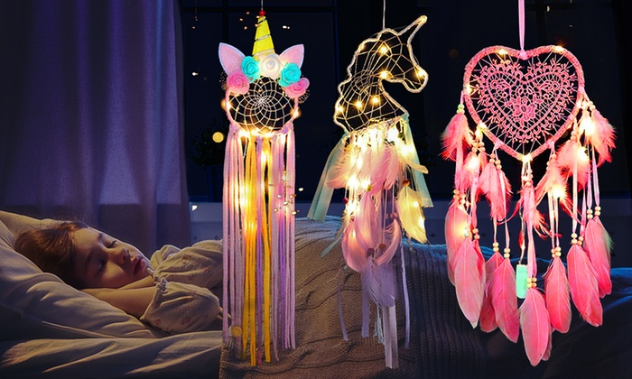 One, Two or Three LED Dreamcatchers