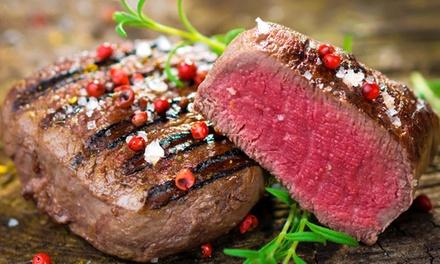 Menu carne di 4 portate con calice di vino