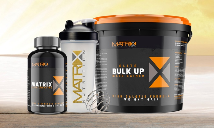 Matrix Elite Creatine, Bulk Up Protein and Shaker Bundle from £24.98